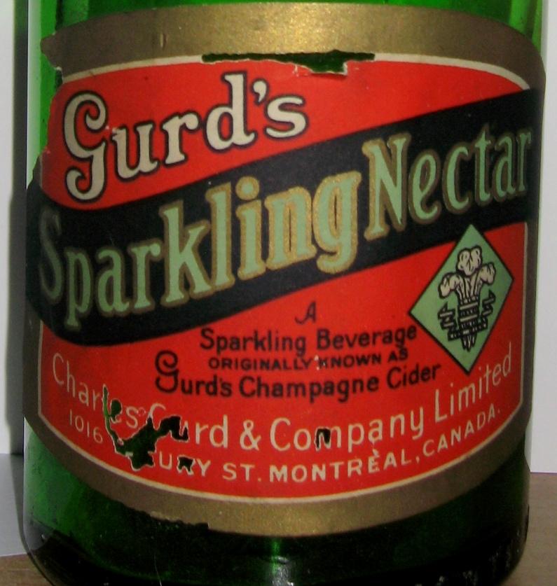 gurd`s sparkling nectar etiquette  30 oz  Gurd_s11