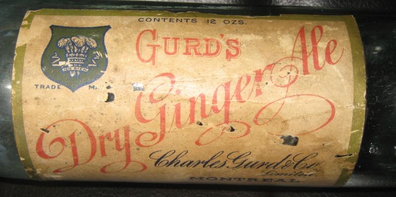 wow une belle gurd dry ginger ale  etiquette  Gurds_10