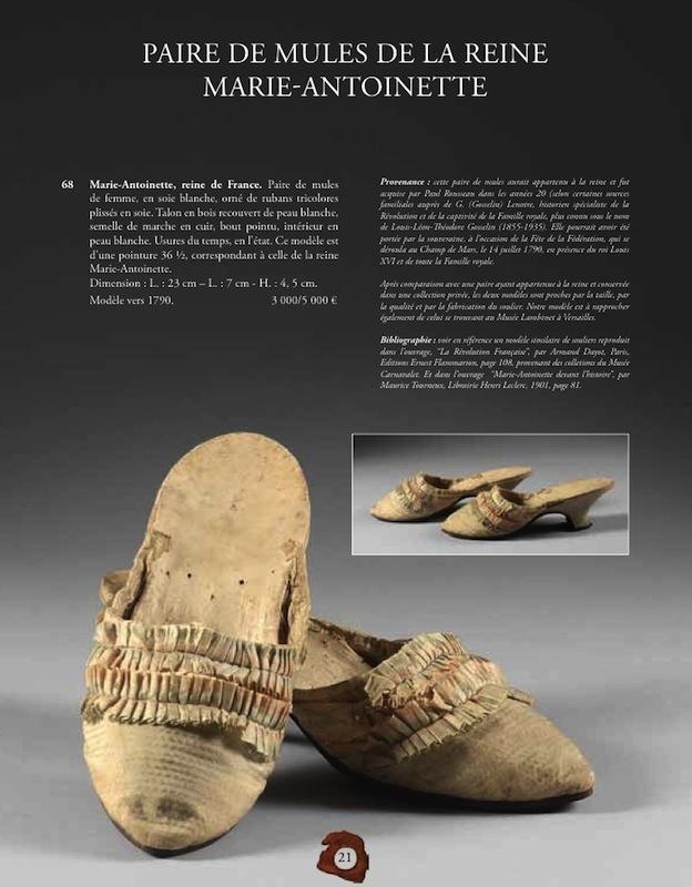 Les souliers et chaussures de Marie-Antoinette  Chauss14