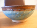 Small textured bowl marked JS or JD - Judith Swannell?  Potter15