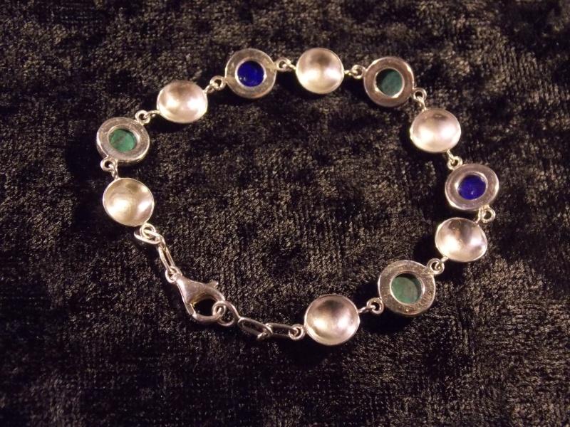 Bracelet Argent, Chrysocolle et Lapis Lazuli Dscn1411