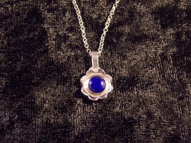Parrure Fleur : Argent/Lapis Lazuli Dscn1412