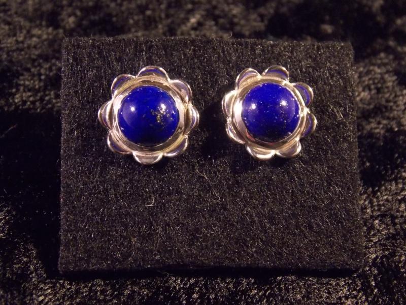 Parrure Fleur : Argent/Lapis Lazuli Dscn1413
