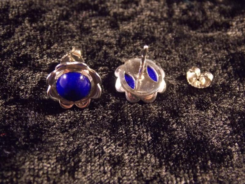 Parrure Fleur : Argent/Lapis Lazuli Dscn1414