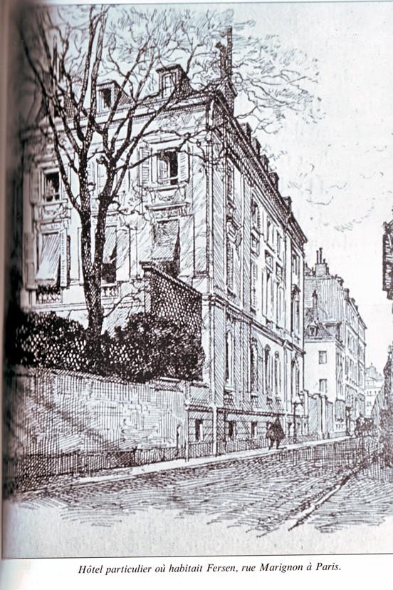 Le logement de Fersen à Paris Fersen10