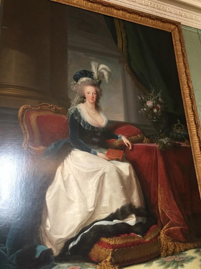 Chambre à coucher du Petit appartement de Marie-Antoinette, au rez-de-chaussée du château de Versailles Img_6015