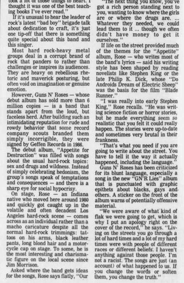 1988.12.22 - Altoona Mirror - Guns N' Roses Take Their Songs From the Street (Axl) Altoon11