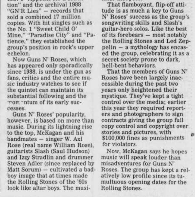 1991.05.30 - Burlington Times News - Guns N' Roses Ready to Fire Next Round Burlin12