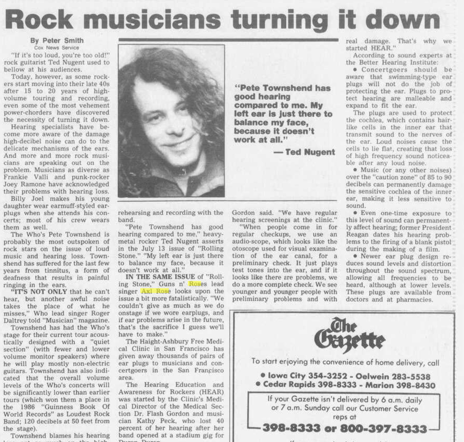 1989.07.20 - Rock Musicians Turning it Down (Axl) Cedar_11