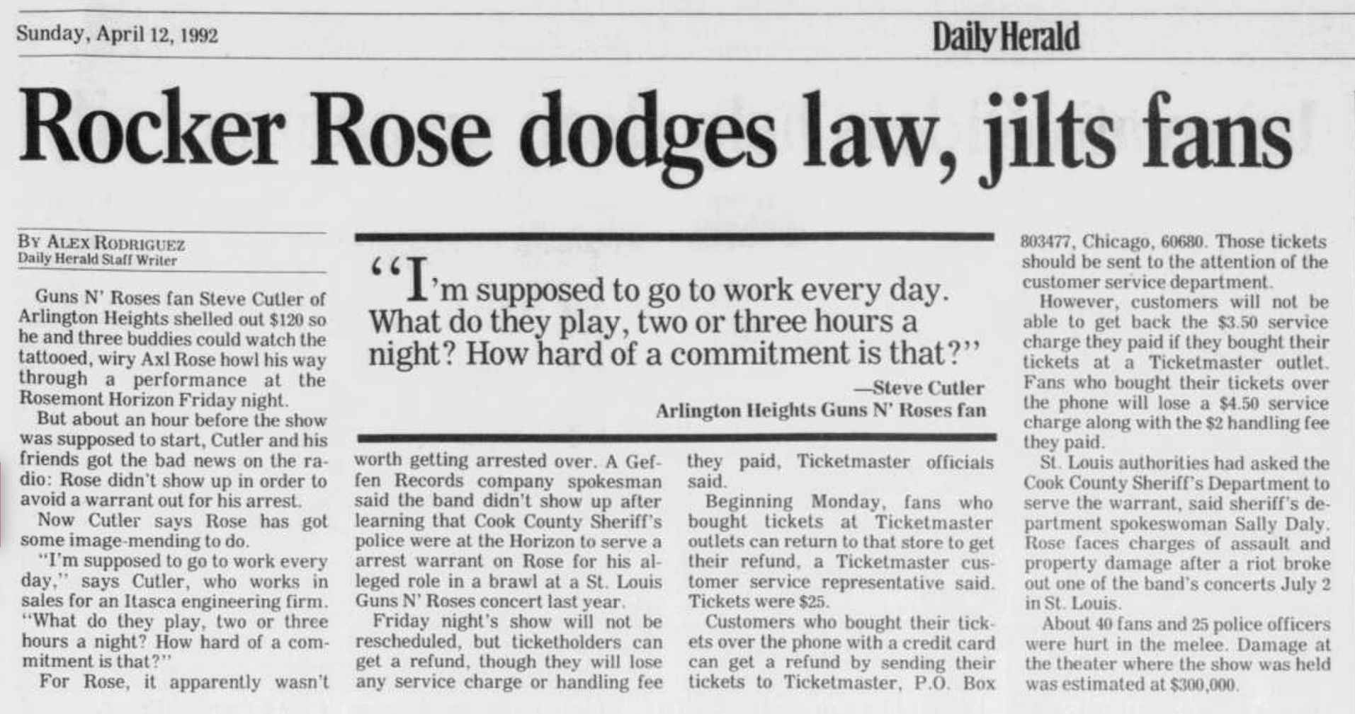 1992.04.11/16 - Chicago Tribune/AP/The St. Louis Post Dispatch - Reports (Axl) Daily_10