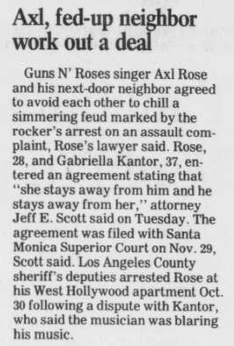 1990.12.06 - Daily Herald Suburban Chicago - Axl, Fed-Up Neighbor Work Out A Deal Daily_10