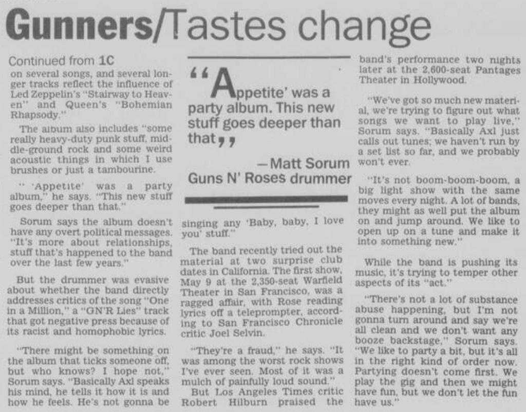 1991.05.19 - Chicago Tribune - Guns N' Roses Reborn (Matt) Janesv11