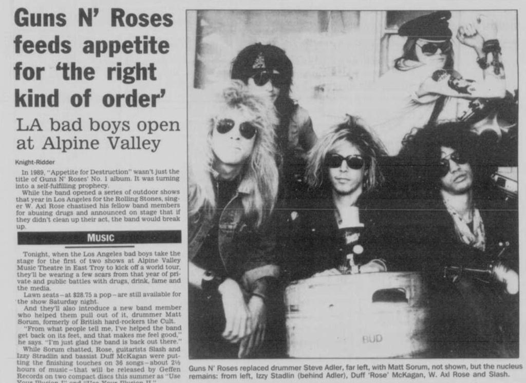 1991.05.19 - Chicago Tribune - Guns N' Roses Reborn (Matt) Janesv12