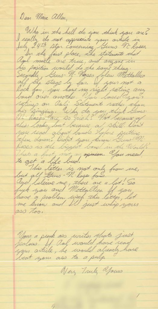 1992.07.22 - Hoosier Dome, Indianapolis, USA Letter10