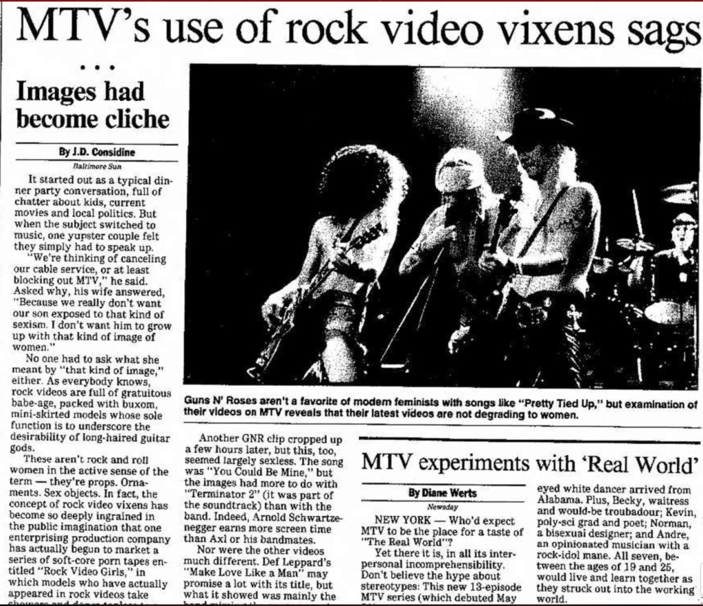 1992.05.29 - Madison Capital Times - MTV's Use of Rock Video Vixens Sags Madiso15