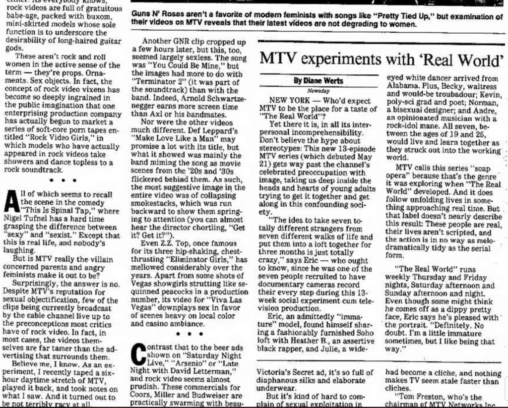 1992.05.29 - Madison Capital Times - MTV's Use of Rock Video Vixens Sags Madiso17