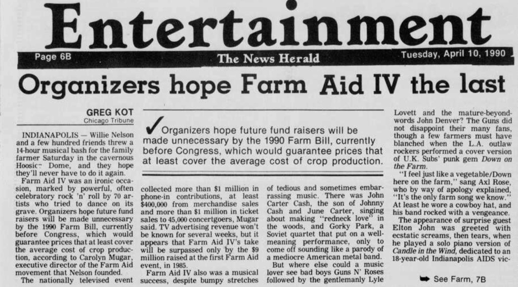 1990.04.07 - Farm Aid IV, Hoosier Dome, Indianapolis, USA  Panama12