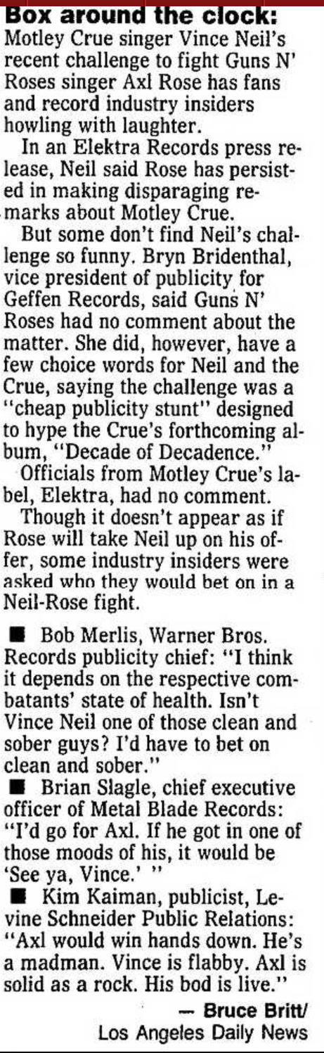 1991.07.28 - Santa Ana Organge County Register - Box Around The Clock [Axl mention] Santa_10