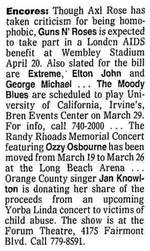 1992.04.20 - Freddie Mercury Tribute, Wembley Stadium, London, England Santa_15