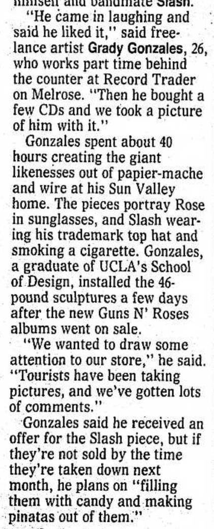 1991.10.14 - Santa Ana County Register - Axl Roses Sees Familiar Figure on Melrose Ave. Santa_17