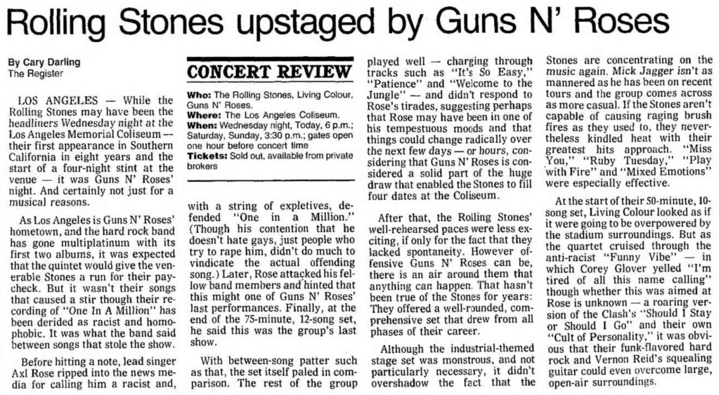 1989.10.18 - Los Angeles Coliseum, Los Angeles, USA Santa_18