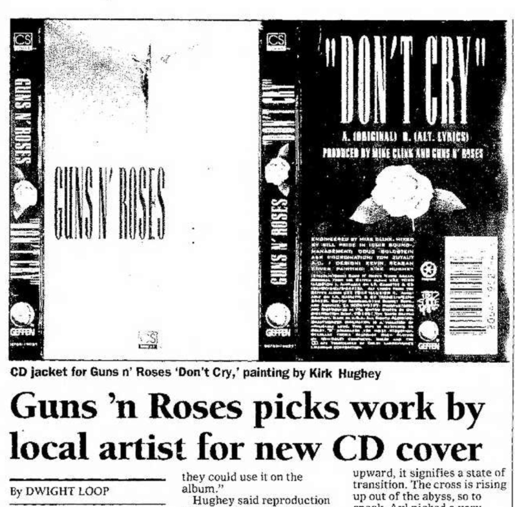 1991.12.20 - Santa Fe New Mexican, Guns N' Roses Picks Work by Local Artist for New CD Cover Santa_31