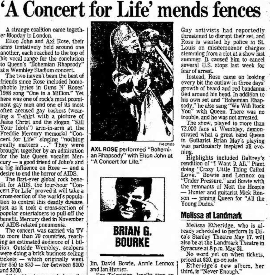 1992.04.20 - Freddie Mercury Tribute, Wembley Stadium, London, England Syracu11