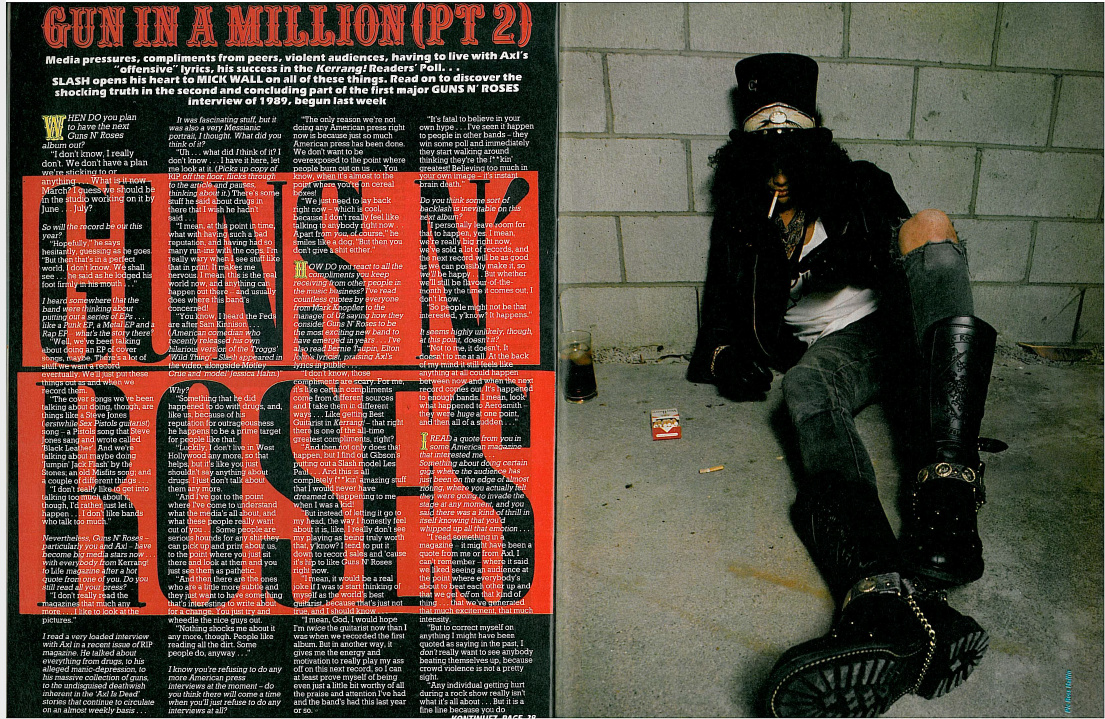 1989.04.22 - Kerrang! - Gun In A Million (Slash) Uten_143