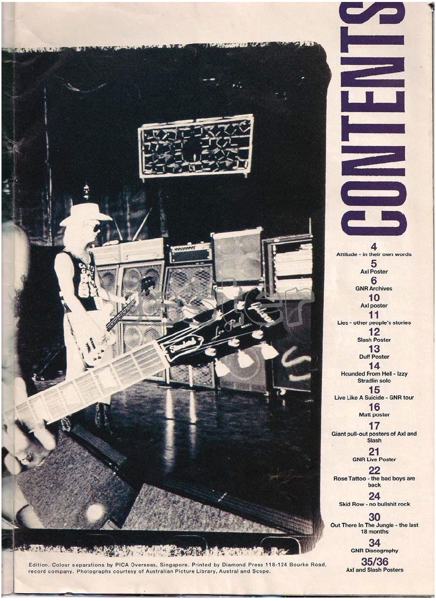 1993.01.DD - Guns N' Roses Australian Tour Special Uten_n13