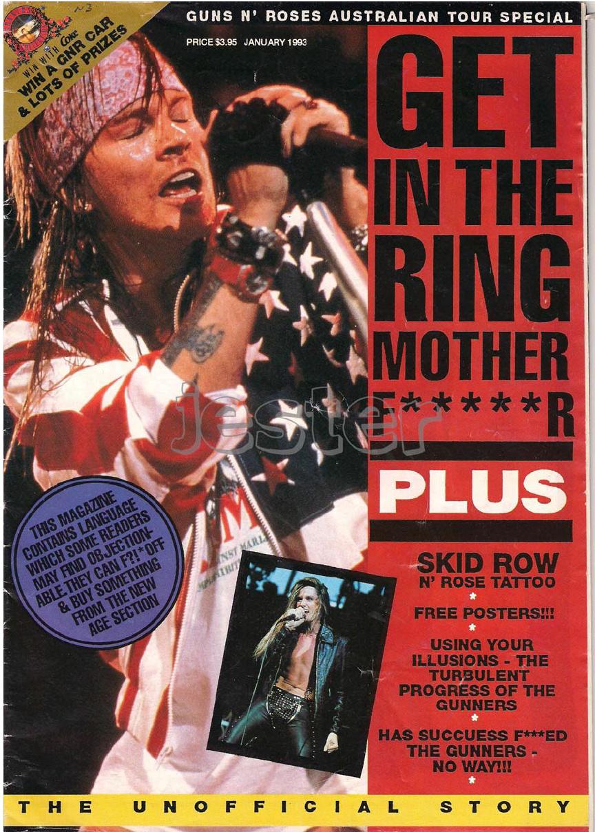 1993.01.DD - Guns N' Roses Australian Tour Special Uten_n15