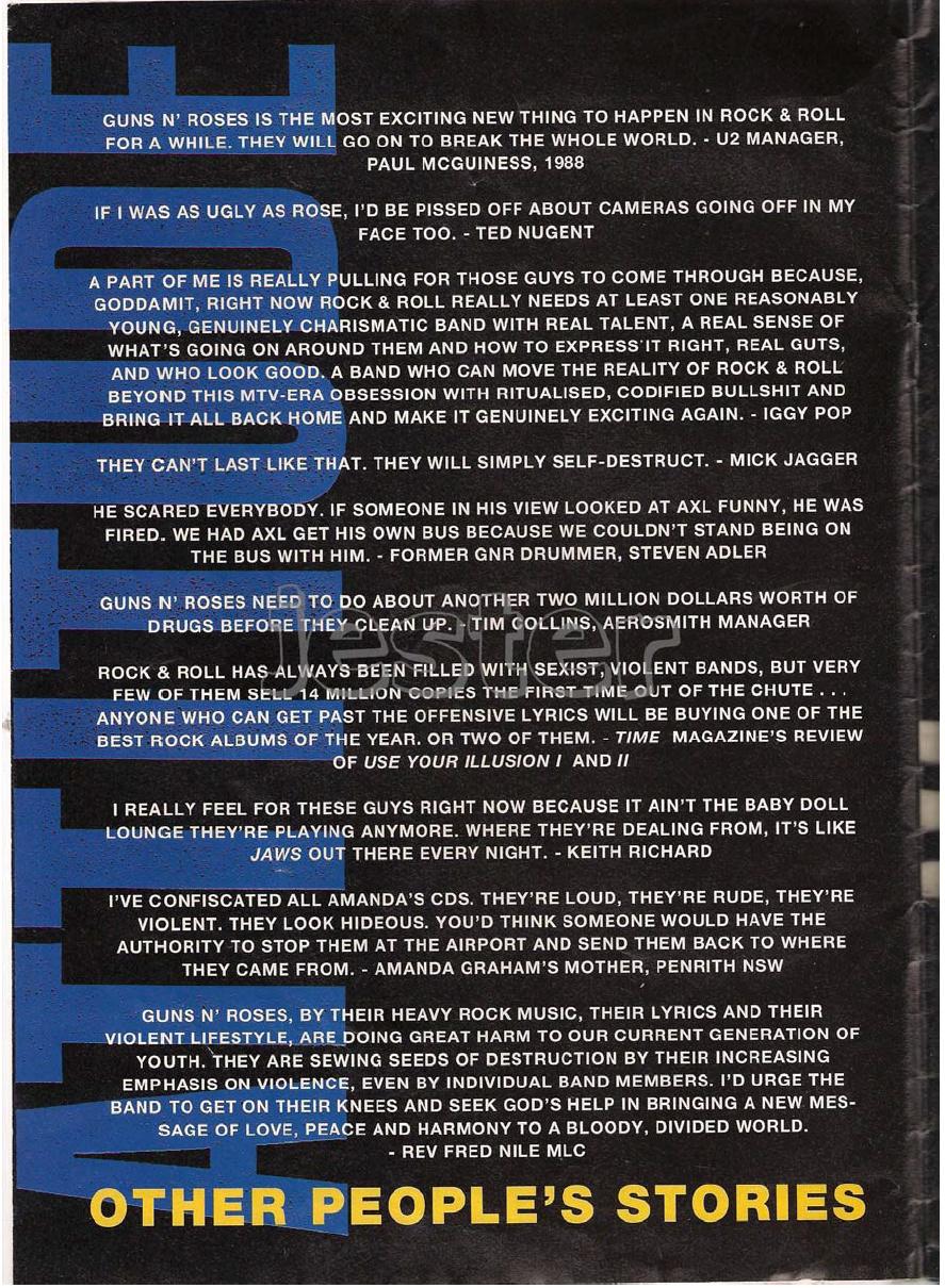 1993.01.DD - Guns N' Roses Australian Tour Special Uten_n17