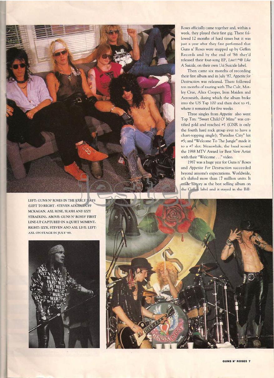 1993.01.DD - Guns N' Roses Australian Tour Special Uten_n20