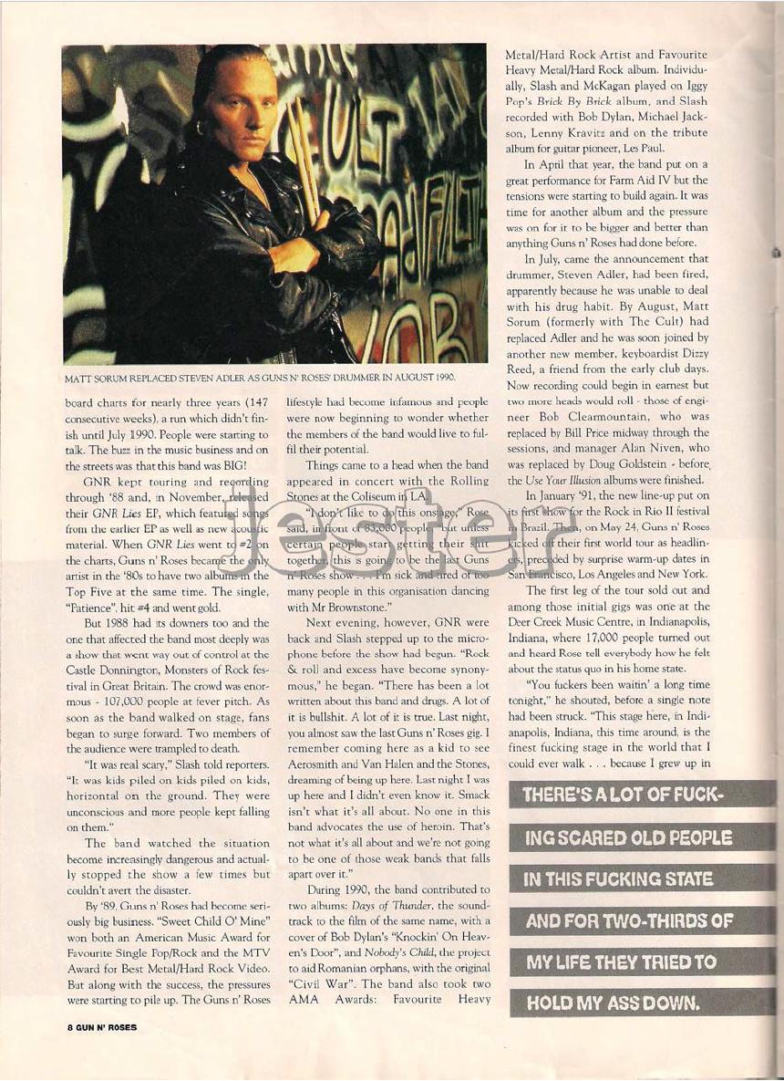 1993.01.DD - Guns N' Roses Australian Tour Special Uten_n21