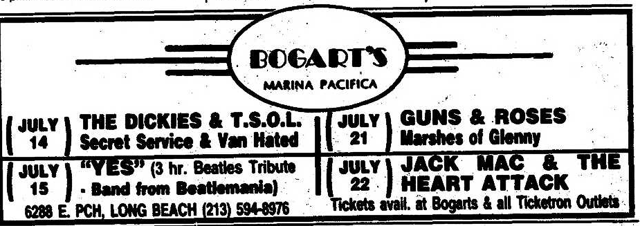 1986.07.21 - Bogart's, Long Beach, USA Uten_n25