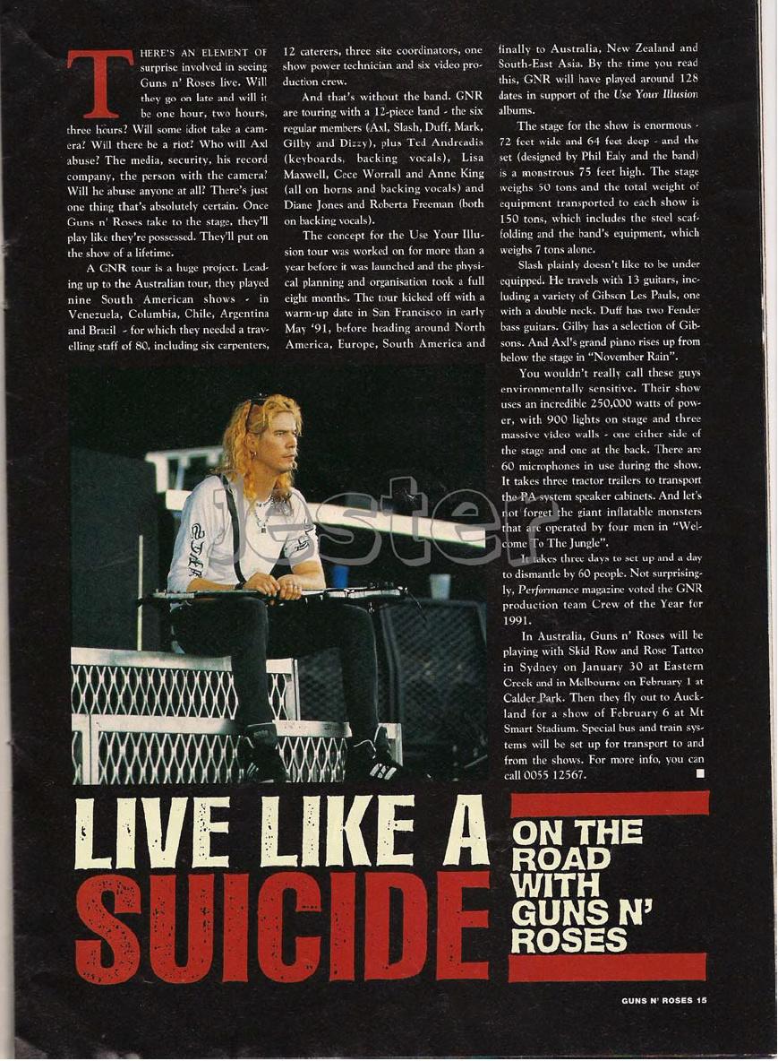 1993.01.DD - Guns N' Roses Australian Tour Special Uten_n26