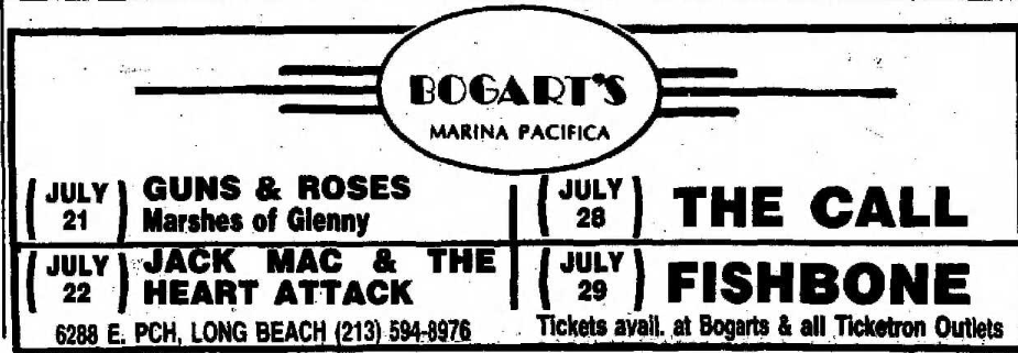 1986.07.21 - Bogart's, Long Beach, USA Uten_n26
