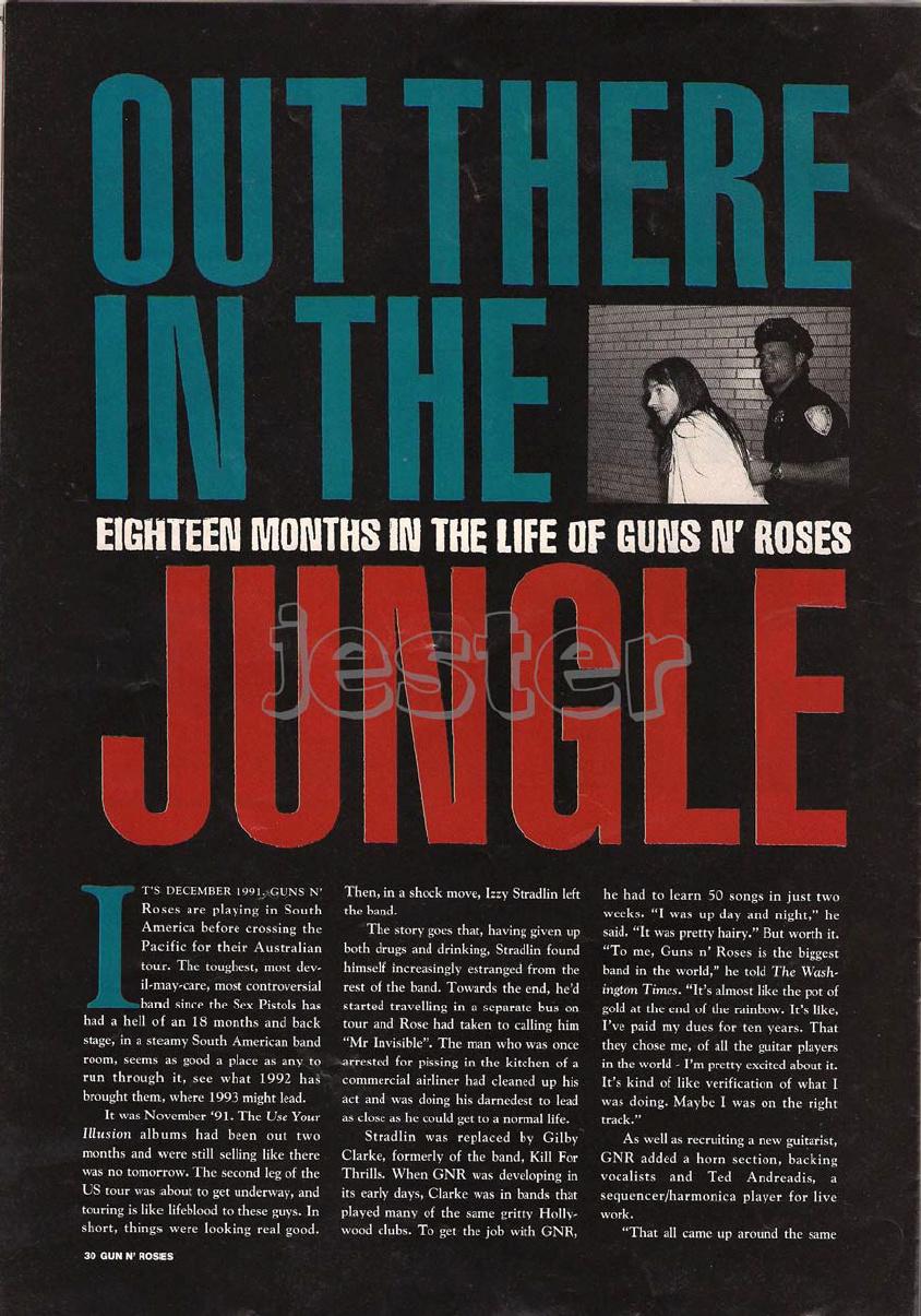 1993.01.DD - Guns N' Roses Australian Tour Special Uten_n30