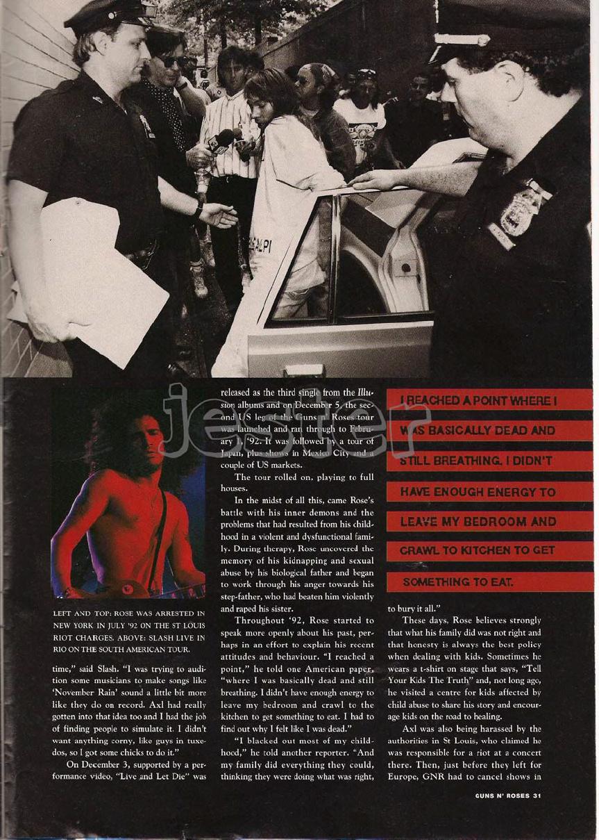 1993.01.DD - Guns N' Roses Australian Tour Special Uten_n31