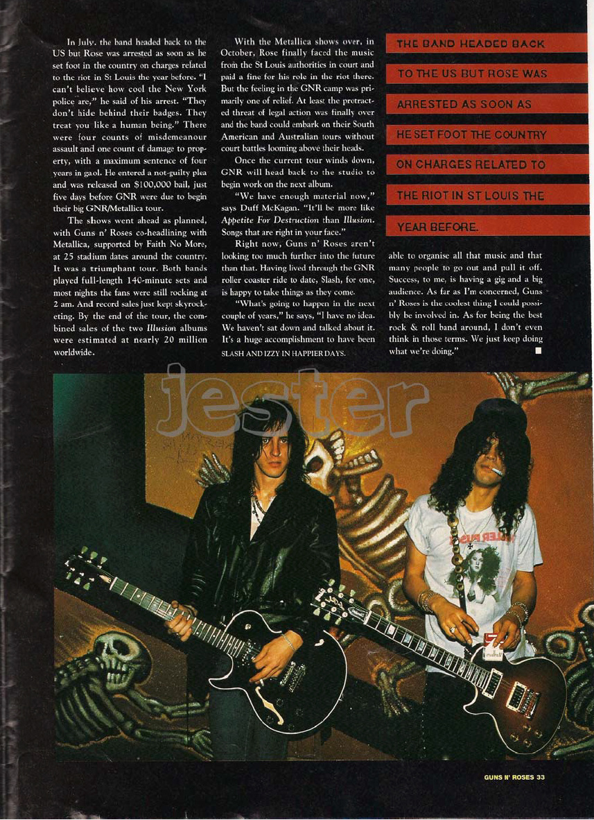 1993.01.DD - Guns N' Roses Australian Tour Special Uten_n34