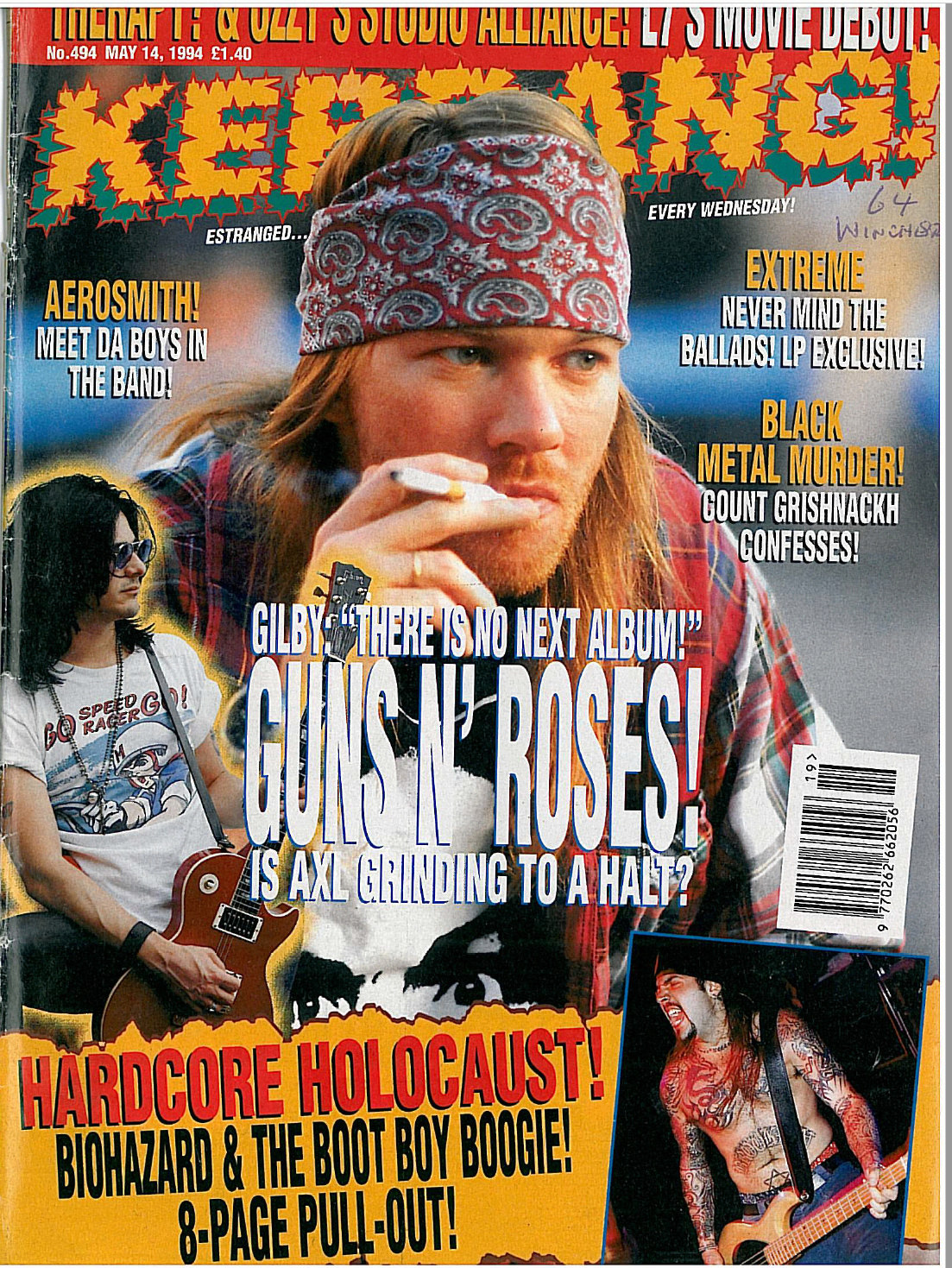1994.05.14 - Kerrang! - War of the Roses (Gilby) Uten_n42