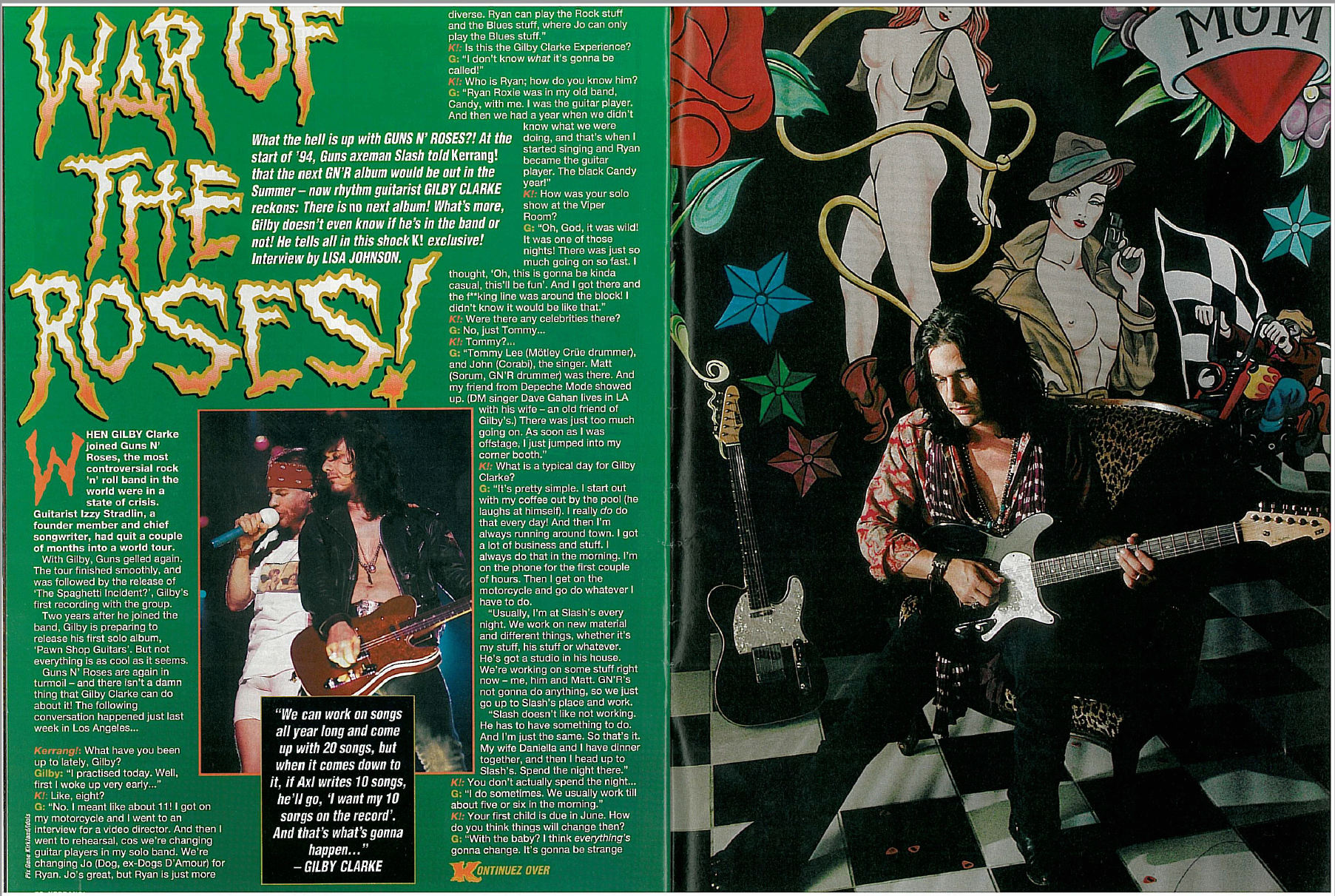 1994.05.14 - Kerrang! - War of the Roses (Gilby) Uten_n43