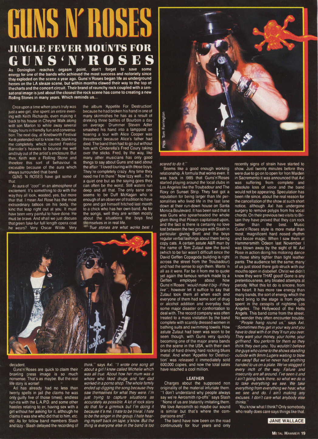 1988.08.01 - Metal Hammer - Jungle Fever Mounts for Guns N' Roses Uten_n53