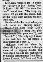 "1993.10.23 - Park City Daily News - ""Mckagan Satisfied by Solo Work"" (Duff) Utenna10"