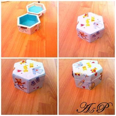 Cutie hexagonala baby box 13,7 x 12 x 7,3   Pret : 45 lei 10703710