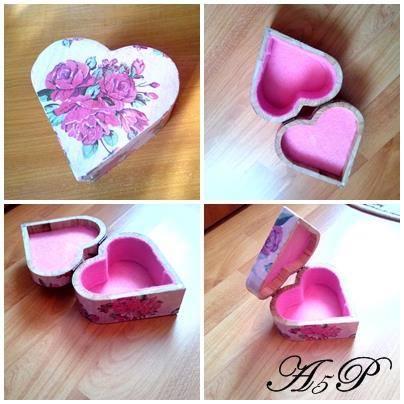 Cutie inimioara roses 12,3 x 12 x 5,5 cm   Pret 45 lei 13819310