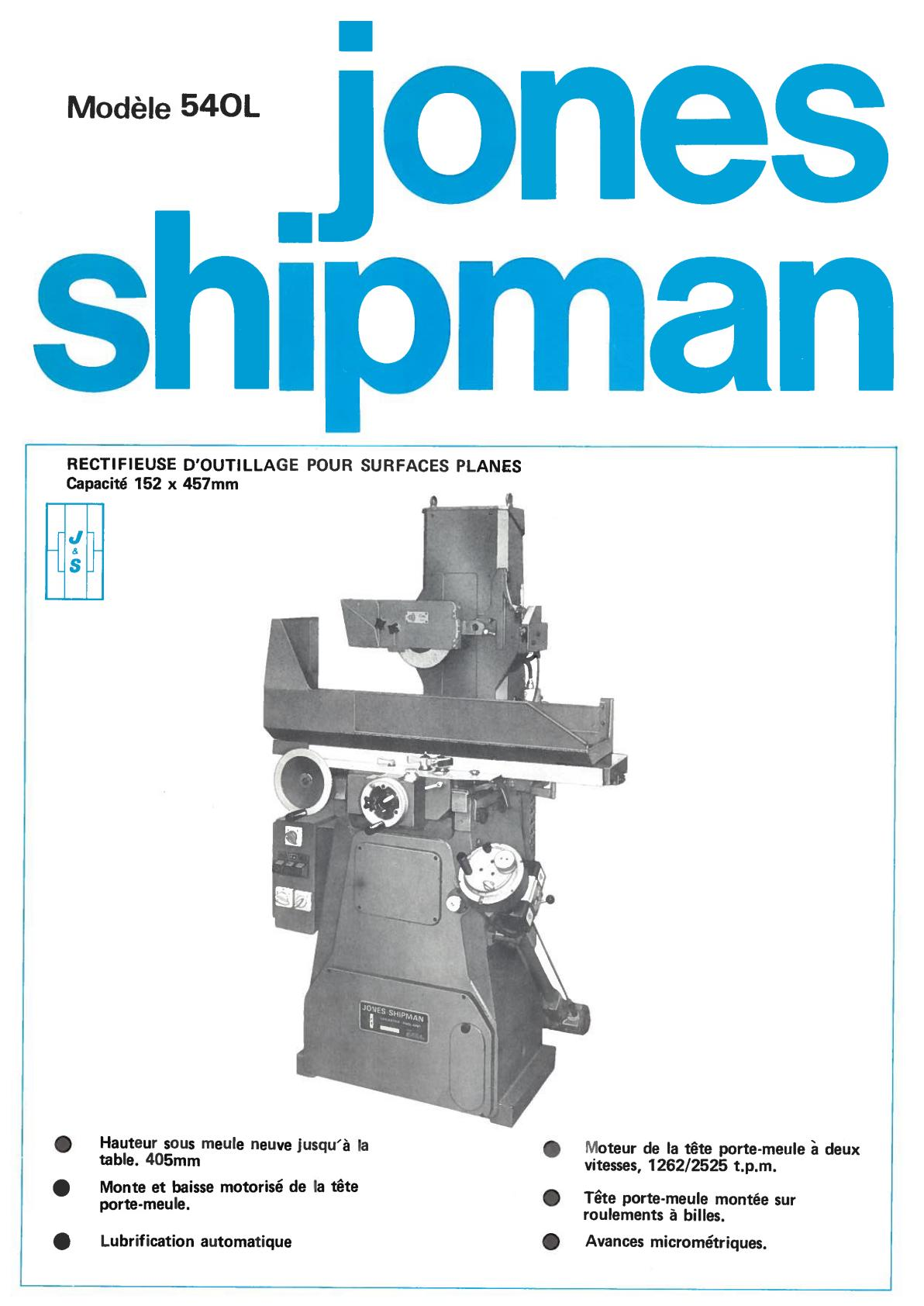 Jones & Shipman 540 & 540L Uw111