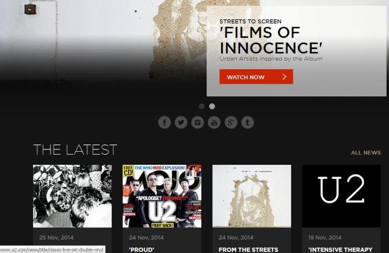 U2.com: nuovo look e gift per gli iscritti 2015 U2_com10
