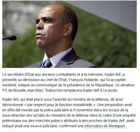 Le secrétaire d'état Kader Arif démissionne... 2014-113