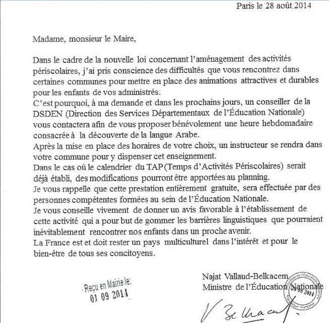 Ministre musulmane de l'éducation arabe... 2014-116