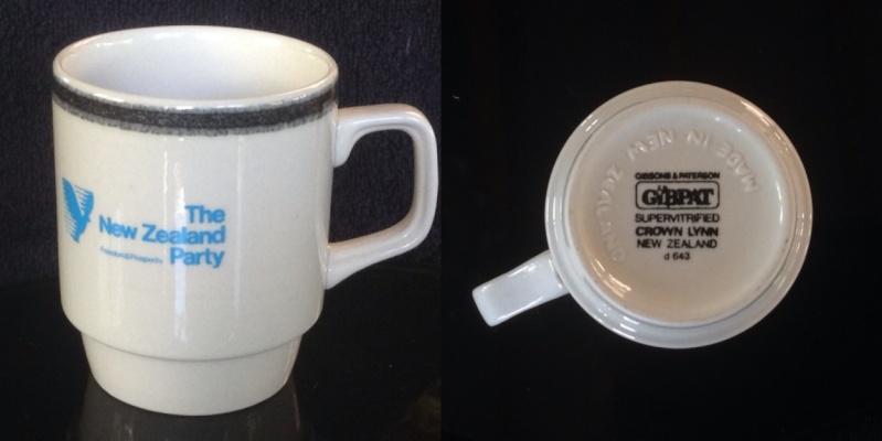 Bob Jones' NZ Party vitrified mug 3639 363910